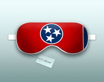 Sleep Mask Tennessee Flag - Volunteer State, Sleeping Mask, Comfortable Eye mask, light-blocking mask. Proud to be an American!