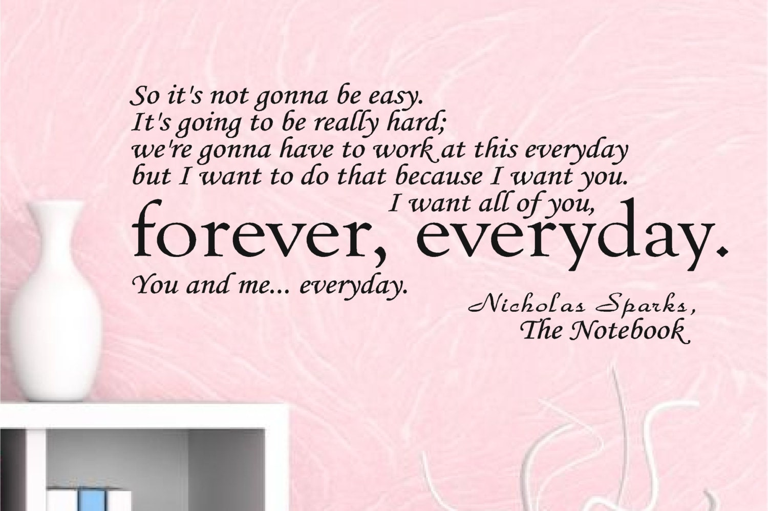Quotes Notebook The Notebook Wall Decal Quote