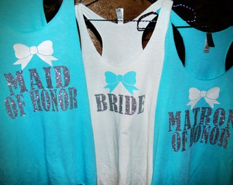 bachelorette party tank tops, bridal party apparel, bridesmaid gifts, girls night out, bachelorette, bride to be