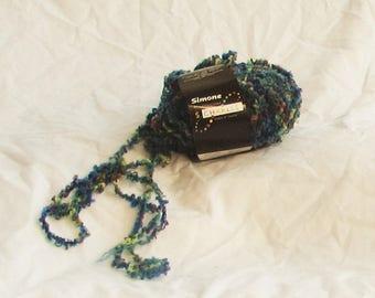 Simone 11, Stacy Charles yarn, blue, purple, wine lime,