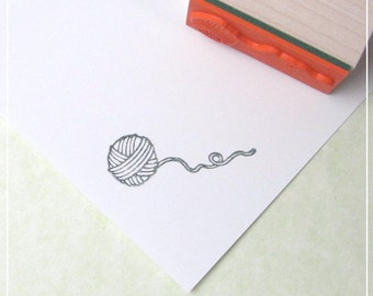 Ball of yarn Rubber Stamp, for price tags, for product tags