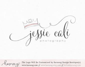 Crown Logo Tiara Logo Photography Logo Boutique Premade Logo Watermark Logo Business Logo Branding Logo Custom Logo Logos and Watermarks