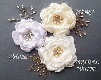 Bridal Hair Piece, Wedding Fascinator, Bridal Headpiece, Bridal Hair Flower, Flower Hair Clip, Wedding Headpiece, Wedding Hair Piece