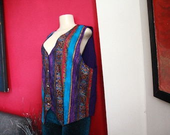 Free Shipping! Colorful Vintage Vest
