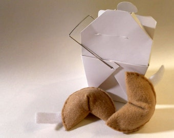 Hand-made Fortune Cookie Catnip Filled Cat Toy