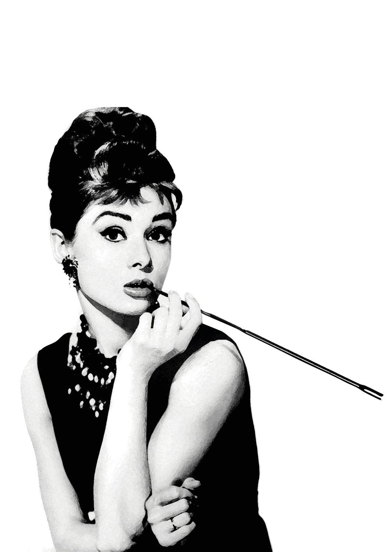 Audrey Hepburn Digital download Poster Print black and white