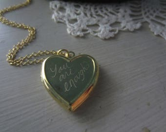 You are enough locket