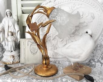 Florentine gold leaf vintage lamp