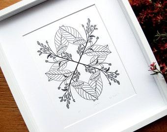 Croton Letterpress Print