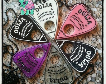 Ouija  planchette resin charm necklace or keychain