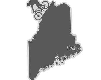 Maine Mountain Biking Decal