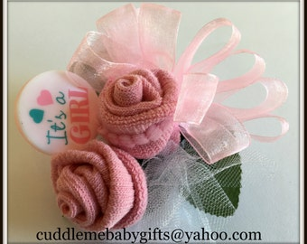 Baby Shower Corsage,Baby Shower Sock Corsage,Baby Shower Gift,Baby Shower  Decor