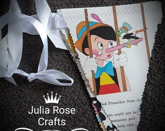 Old children's book bunting