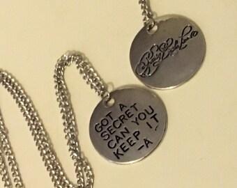 Pretty little liars silver pendant necklace Got a secret can you keep it silver necklace