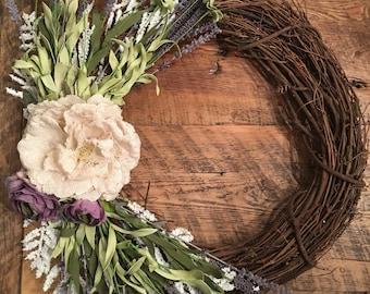 Fall Wreath, Spring Wreath, Farmhouse Wreath,Front Door Wreath, Rustic Wreath, Farmhouse Wall Decor, Farmhouse Decor, Wreath, Wedding Gift