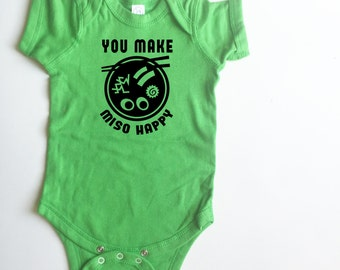 You Make Miso Happy shirt for babies and toddlers. Lots of colors! Bodysuit *and* T-shirt options!