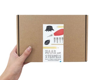 DIY Kit - Rubber Stamp Making - Box with all Materials and Instructions