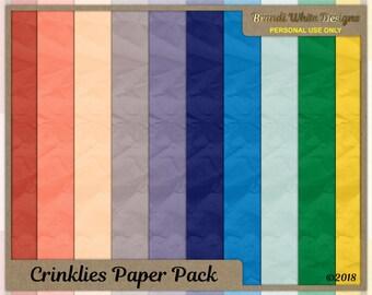 Digital Scrapbooking Background Paper: Crinklies