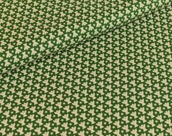 Cotton cream joyful Christmas Angel / Pine Green (9,50 EUR / meter)