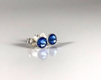 Atlantic Blue Sterling Silver Earrings