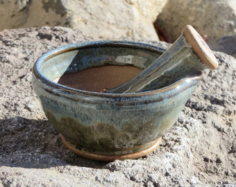 Mortar and Pestle, Wheel Thrown Pottery, Pottery Mortar and Pestle, Ceramic Mortar and Pestle, Stoneware Mortar and Pestle