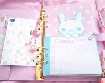 Kawaii coniglio a forma di magia cruscotto lavagna per pianificatori a5 a6 kawaii per dokibook kikkik macaron
