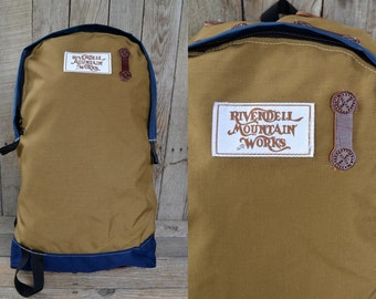 Rivendell Mountain Works Two Tone Cordura and Leather Mariposa Daypack Backpack