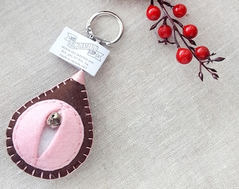 Vagina key chain, vulva keyfob, lesbian keyring, gay housewarming gift, feminist totem, midwifery gift, as seen on HuffPo.com {Coco Key}