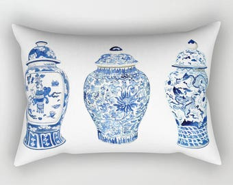 GINGER JAR TRIO Rectangular Pillow - 3 Sizes