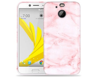 Htc Bolt #Pink Marble Design Hard Phone Case