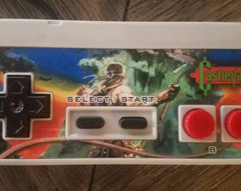 NES Controller with Castlvania Overlay