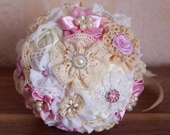 Bridesmaids bouquet, fabric bouquet for bridesmaids, brooch bouquet, bouquet for gerlfrends