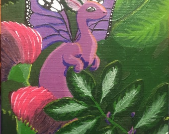 Acrylic Painting - Stretched Canvas - Dragon Painting - Dragon Wall Art