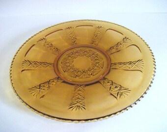 Vintage Gold Glass Platter