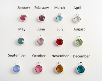 Add a Swarovski Crystal Birthstone Charm - 6mm