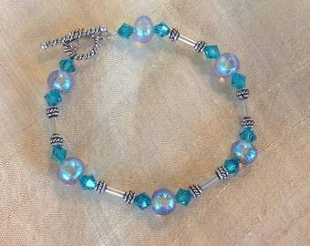 Handmade Dichroic Glass Bracelet