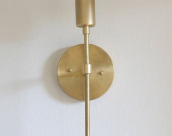 Unfinished Brass Wall Sconce  light
