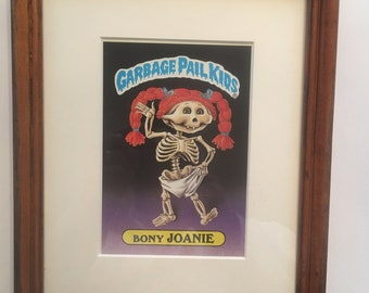 "Custom Framed Garbage Pail Kids Card ""BONY JOANIE"""