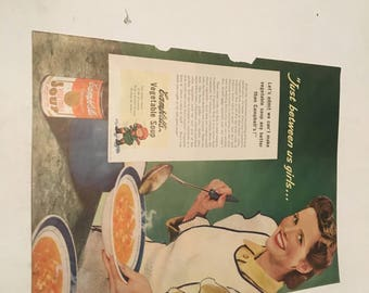 1940s campbell's soup ad just between us girls