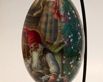 Christmas elf decorative goose egg