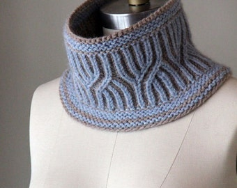 knitting pattern, knit cowl, pattern, knit pattern, cowl pattern, brioche cowl, Lavington Cowl, diy instructions, instant download pdf