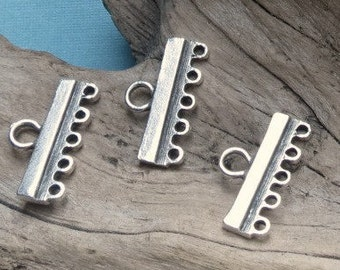 Five Strand End Bar - Pewter - Lead Free - Two Pieces