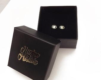 Earrings mini tiny eyes eyes