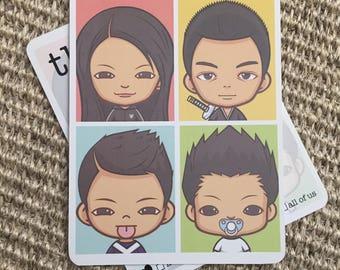Family Avatar Multipurpose Greeting Postcards - Happy, Happy ...
