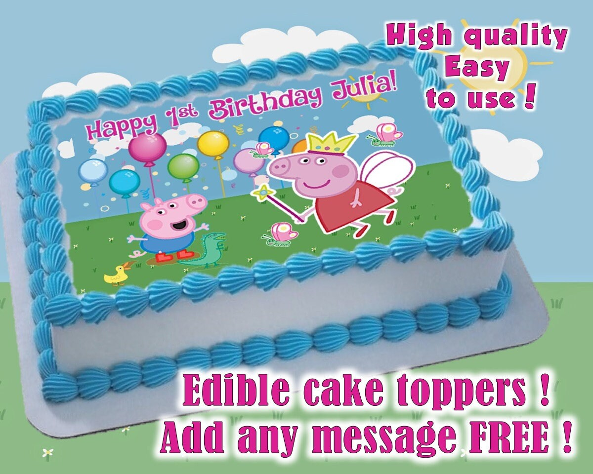 Peppa Pig Cake Toppers Canada