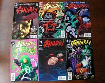 Anarky Lot of 6, 1997 #1 & 2; 1999 #1 2 5 8, Alan Grant, Norm Breyfogle, Joker, DC Comics