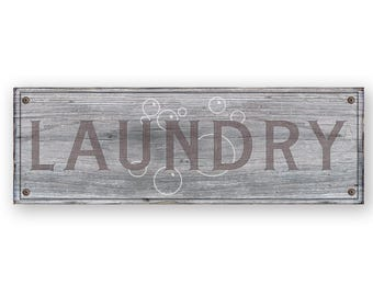Laundry Room Sign - Rustic weathered wood sign - Laundry sign - Rustic distressed home decor