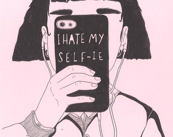 I have my selfie (pink) A4
