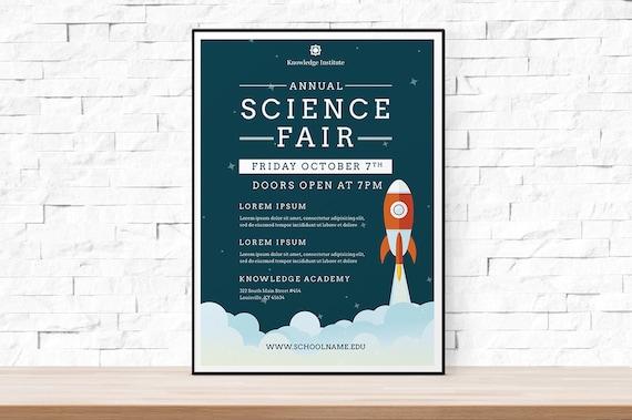 Diy Printable School Science Fair Flyer Template Word Flyer