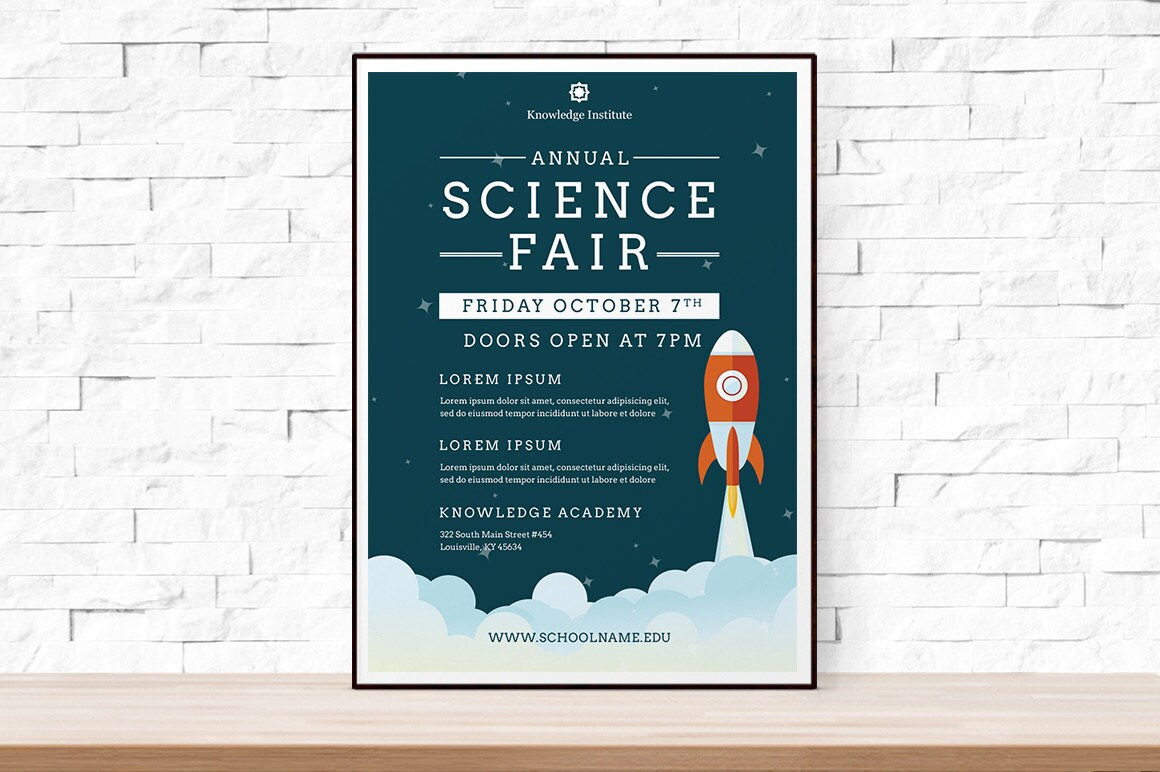 diy printable school science fair flyer template word flyer, Powerpoint templates